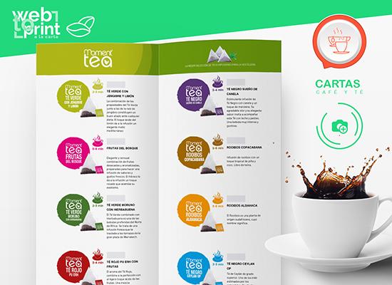Cartas de café y té